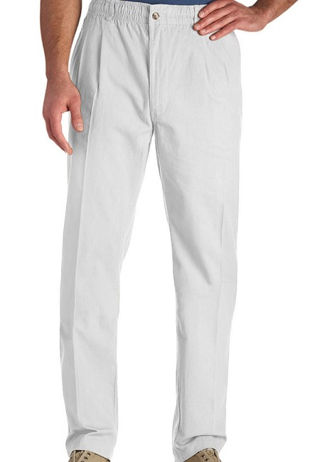 #004598. 70 . WHITE VINTAGE TWILL PANT Cotton Casual Pants by CREEKWOOD. <font face=arial size=2><BR>Special Order Item.</font> <B>Item stocked by Creekwood.  Allow an extra 5 days for handling.</B>