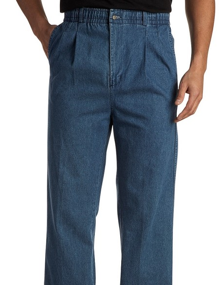 #128164. 50 . INDIGO VINTAGE PANT DENIM Cotton Casual Pants by CREEKWOOD. <font face=arial size=2><BR>Special Order Item.</font> <B>Item stocked by Creekwood.  Allow an extra 5 days for handling.</B>