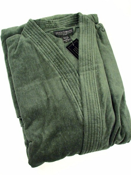 #182605. 2XL BIG. HUNTER TERRY SOLID VELOUR Robes by STATE-O-MAINE. Whs A:  3
