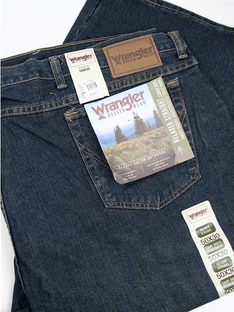 #129826. 52 34. UNION Retail $  44.00 Cotton Jean by WRANGLER. RELAXED STRAIGHT FIT FW:  1,