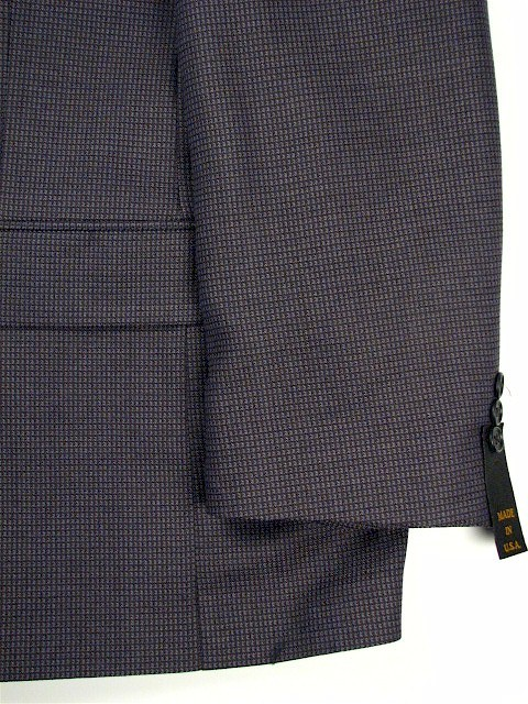 #025944. 52 XL. NAVY Retail $ 229.00 Sportcoats by HARDWICK CLOTHES. NEAT PATTERN COAT FW:  1
